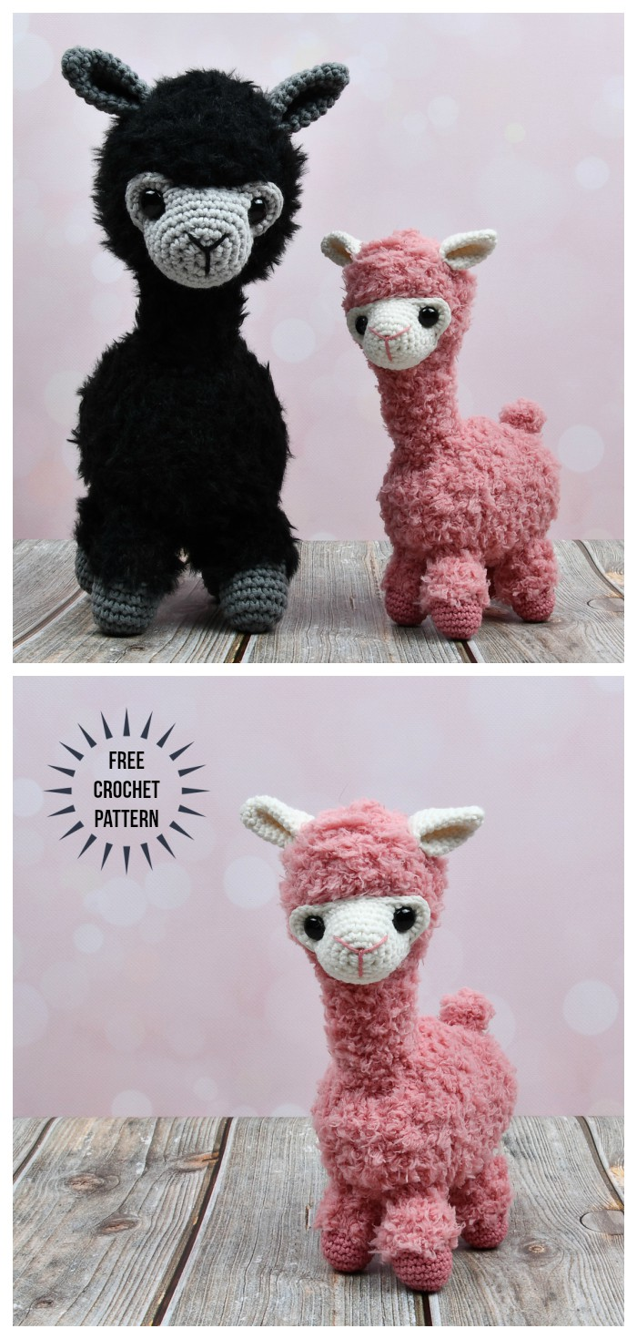 Amigurumi Llama - A Free Crochet Pattern - Grace and Yarn | 1470x700