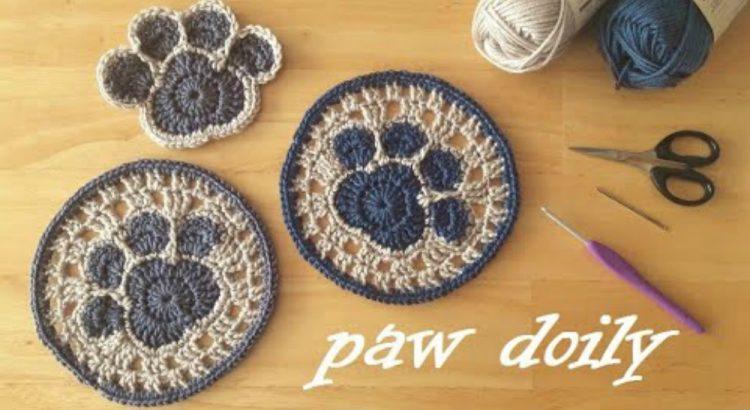 Crochet Paw Print, Heart Paw Print – GoldenLucyCrafts | 410x750