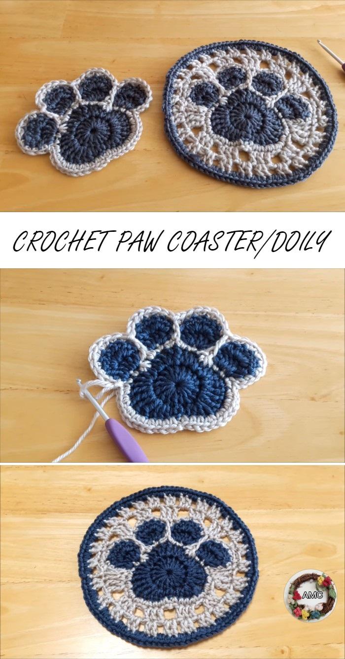 Crochet Cat Cup Coaster Amigurumi Free Crochet Pattern | 1336x700