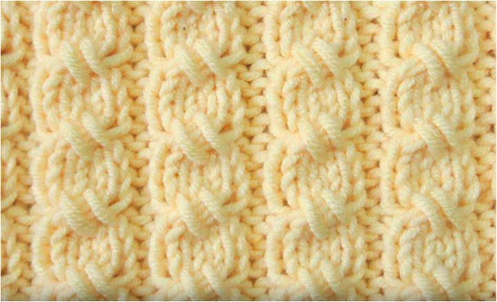Mock Cable Rib Stitch Knitting Pattern