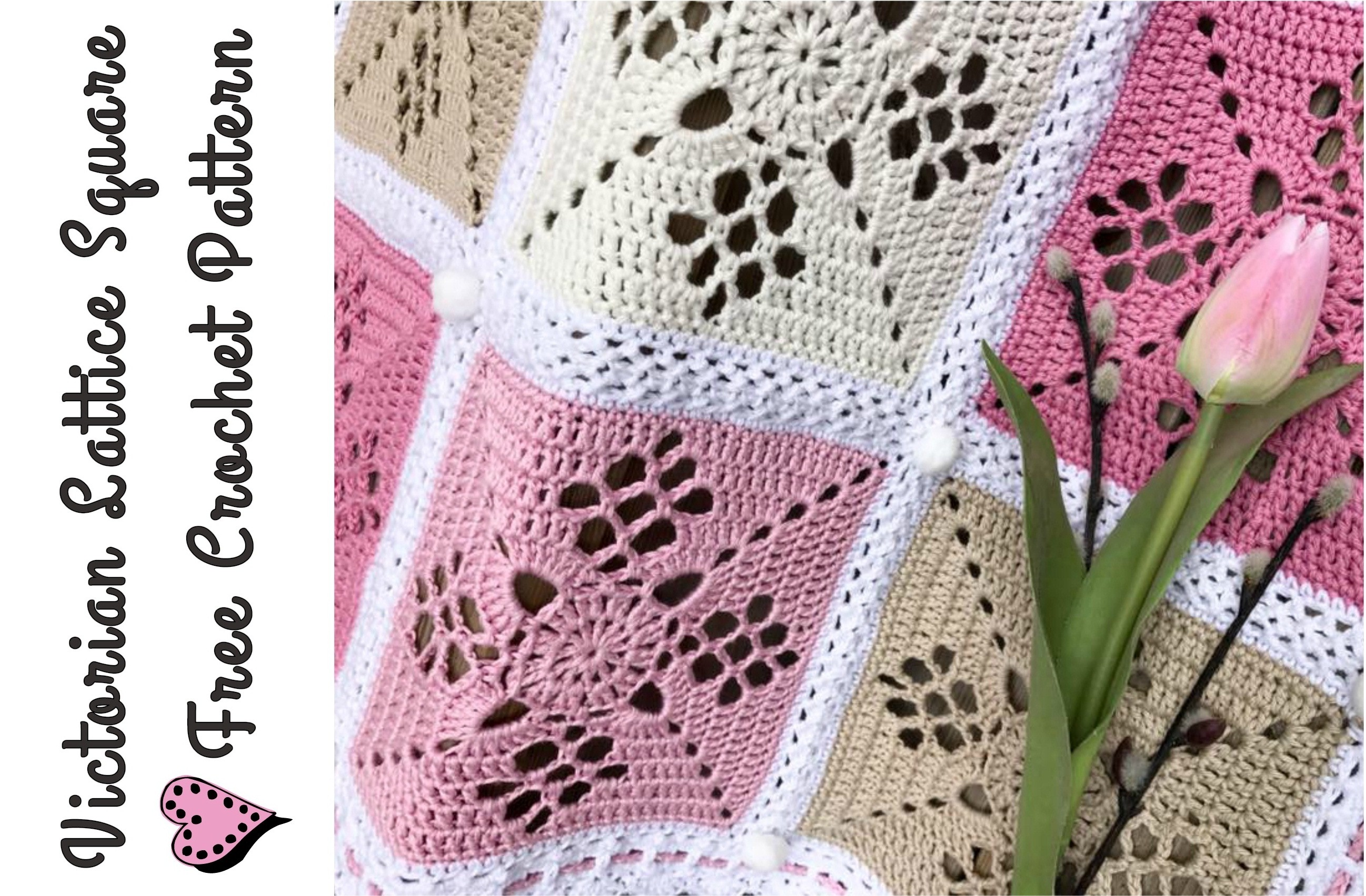 Victorian Lattice Square Crochet Pattern