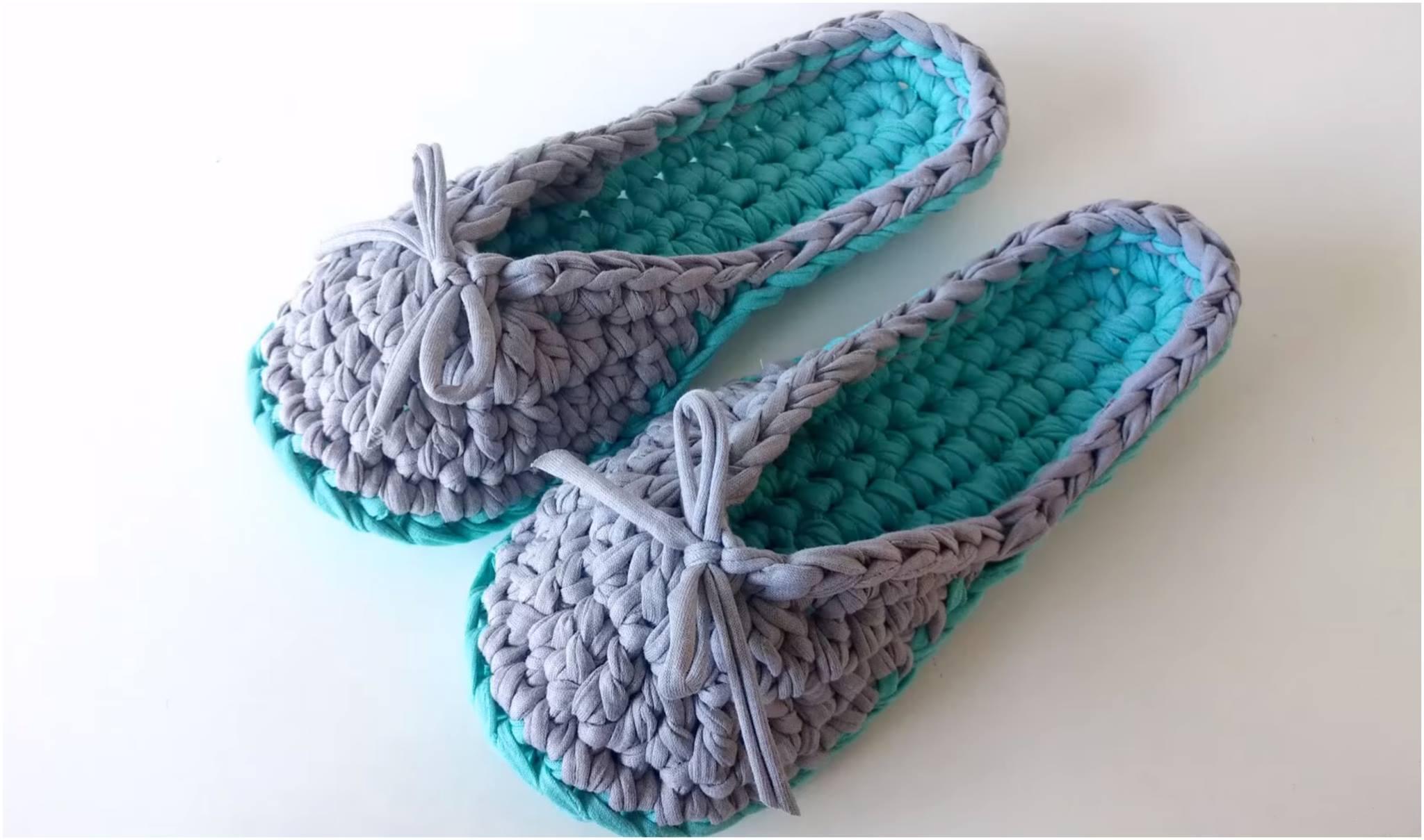 Crochet Slippers Pattern + Video Tutorial