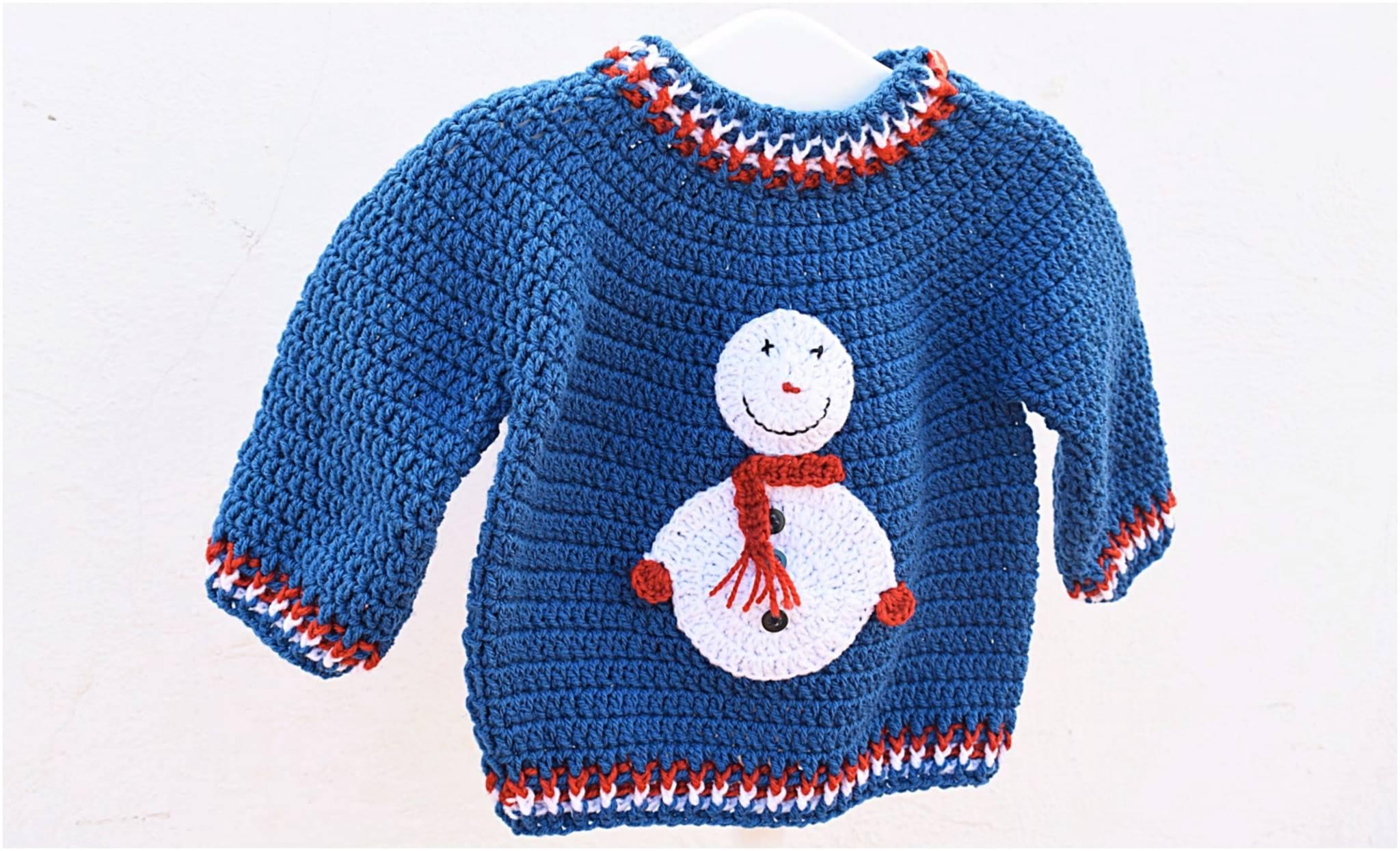 Christmas Sweater Free Crochet Pattern