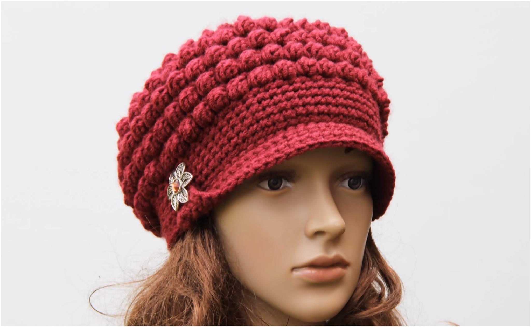 Crochet Brimmed Hat Free Pattern