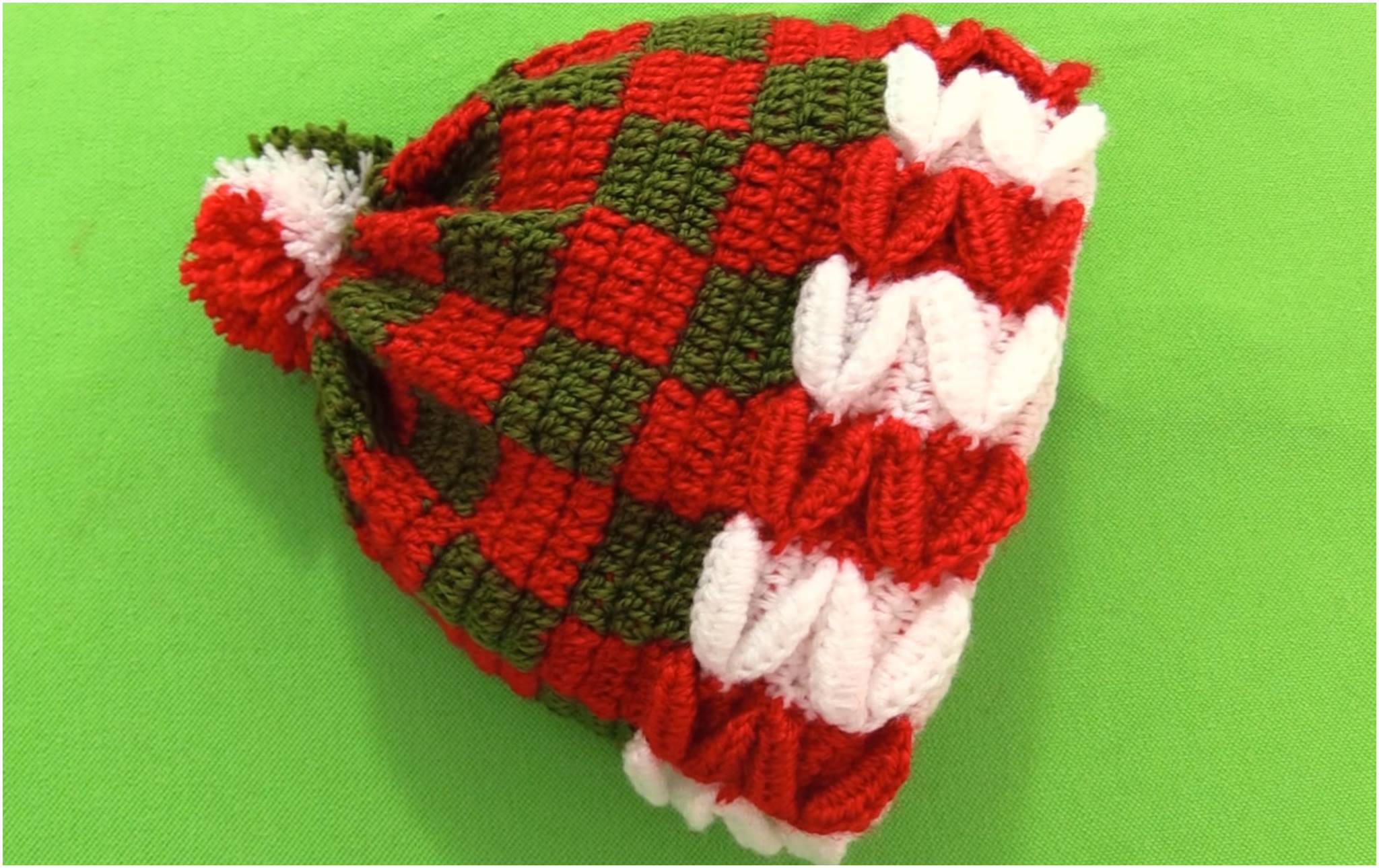 Crochet 3D Christmas Beanie Hat