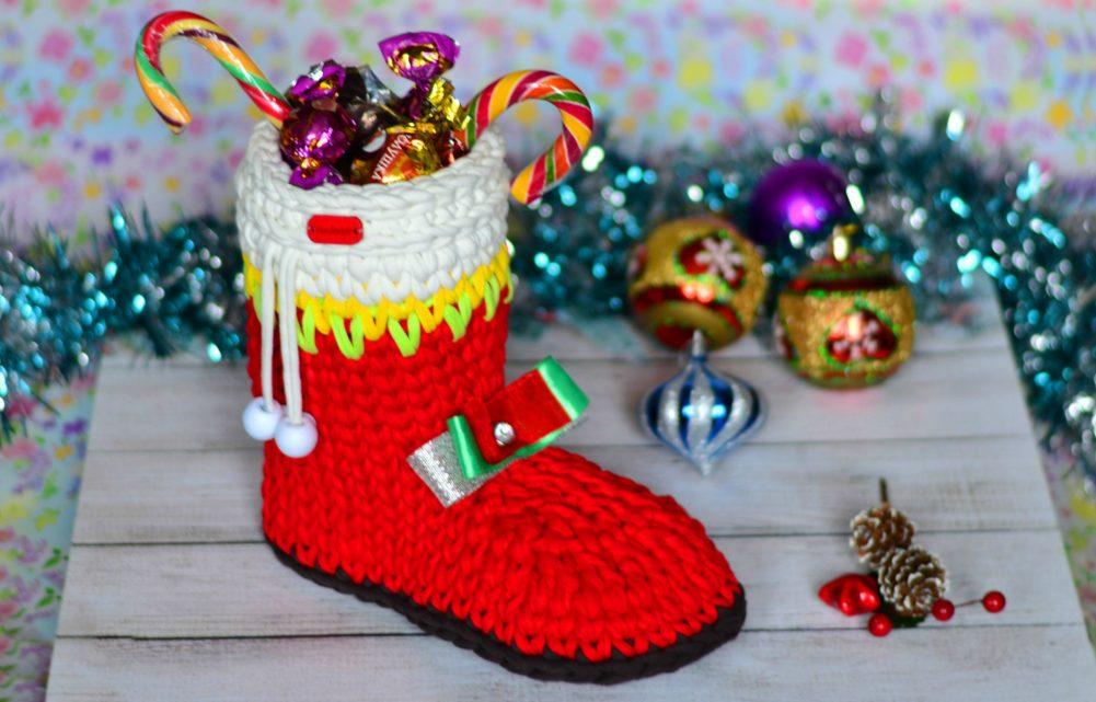 Crochet Christmas Boot Gift Package