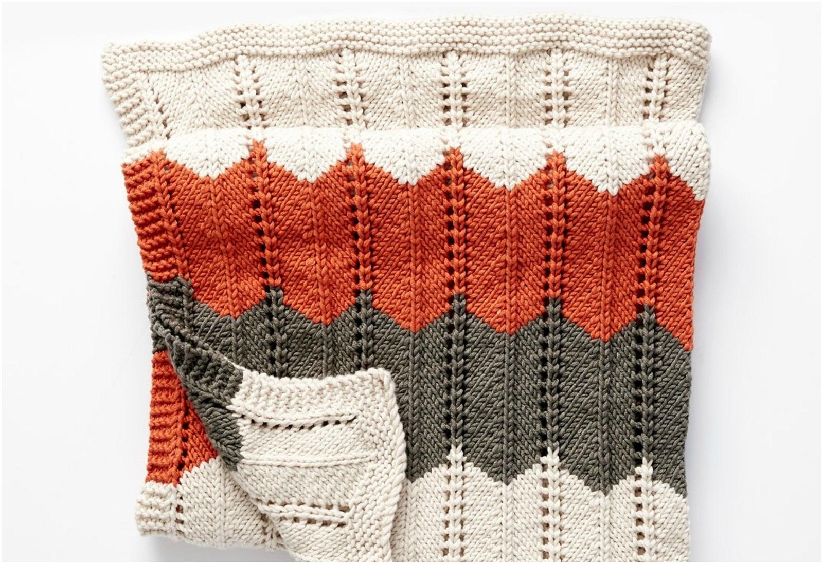 Ripple & Ridge Blanket – Free Knitting Pattern