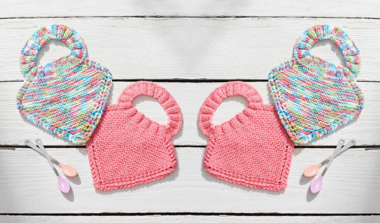 Crochet or Knit Baby Bibs – Free Patterns