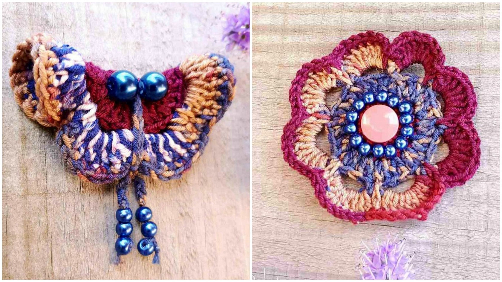 How To Crochet Flower Butterfly