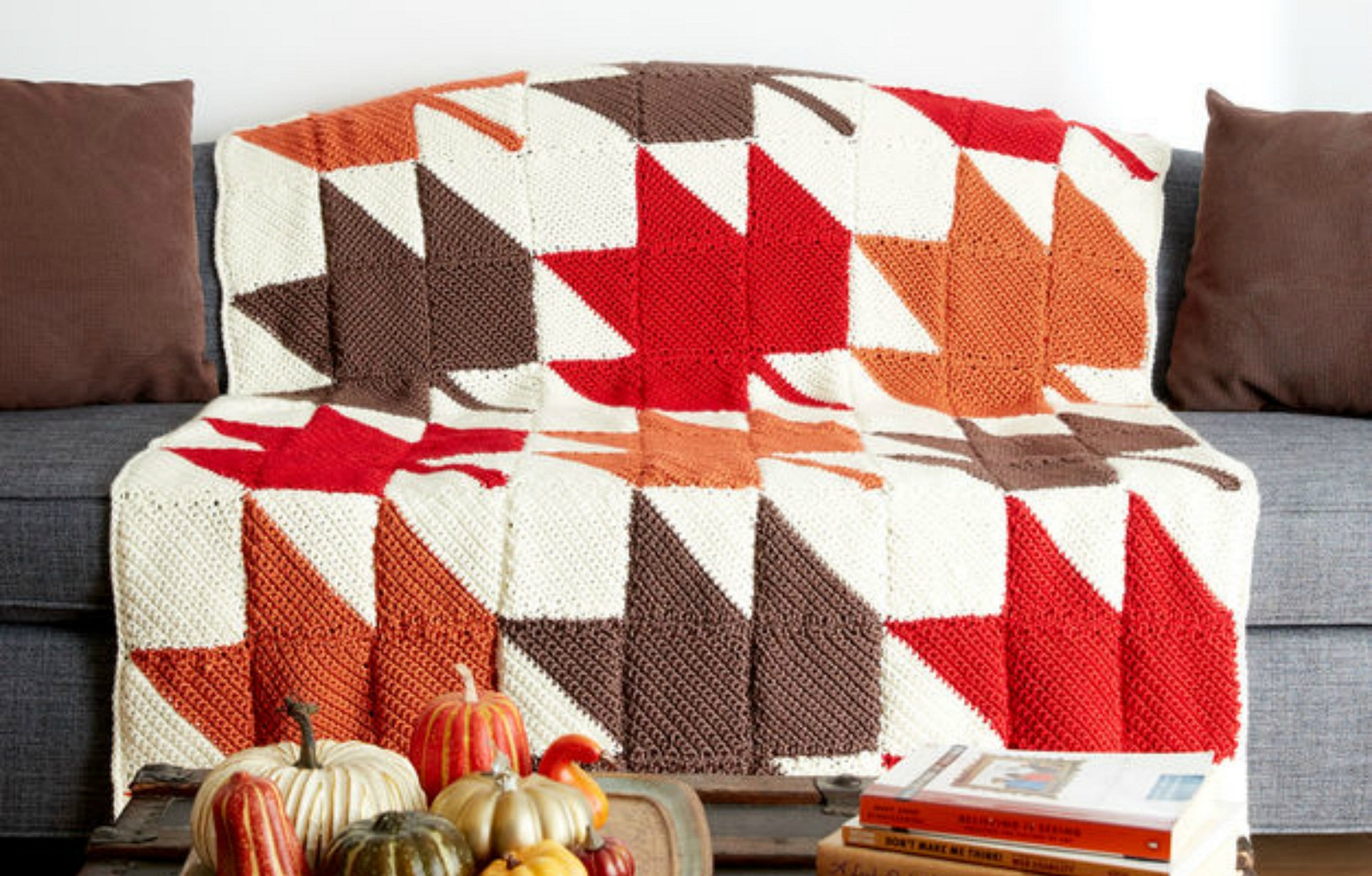 Autumn Leaves Afghan Free Crochet Pattern