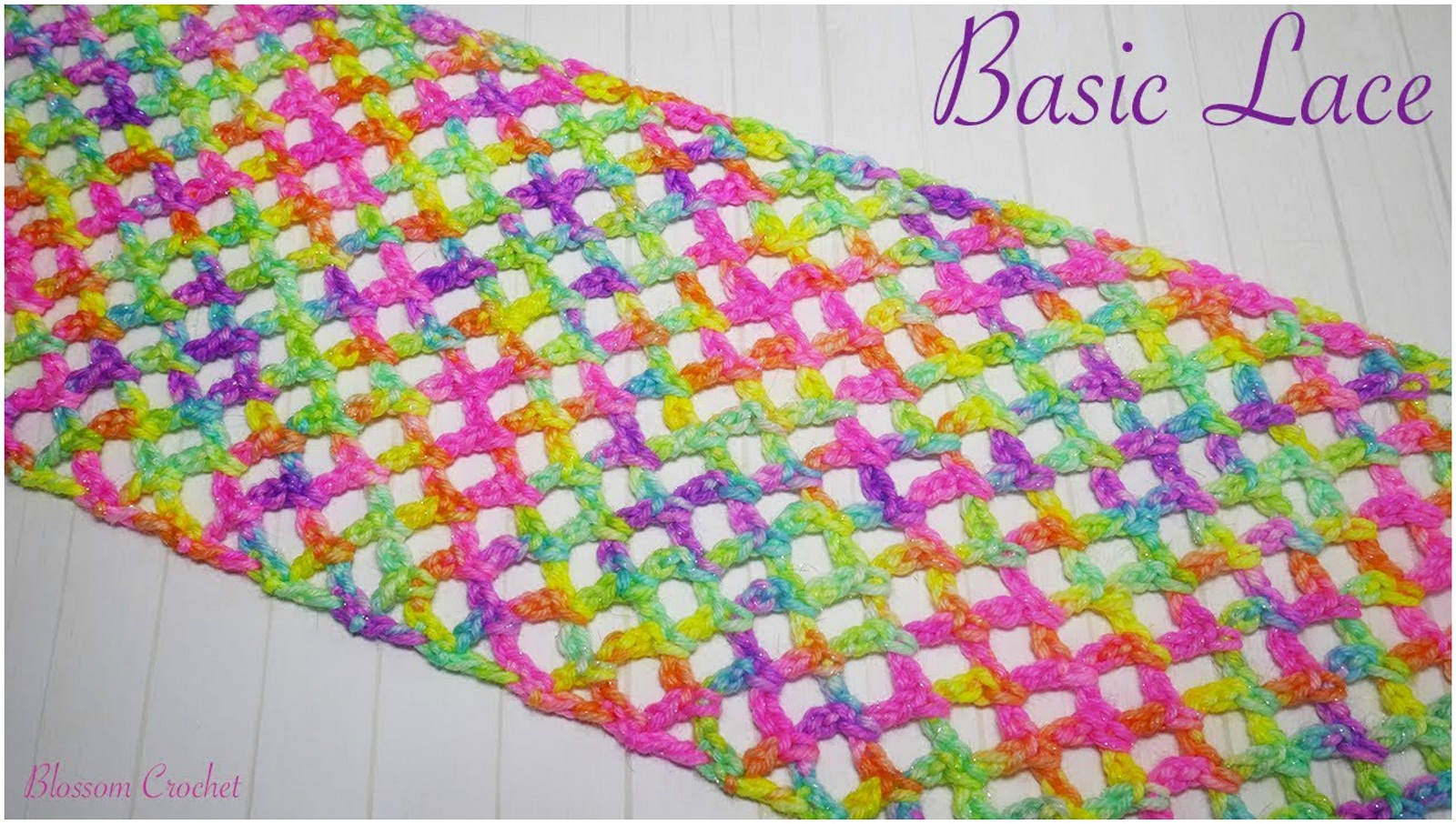 Crochet Simple Diamond Lace Stitch