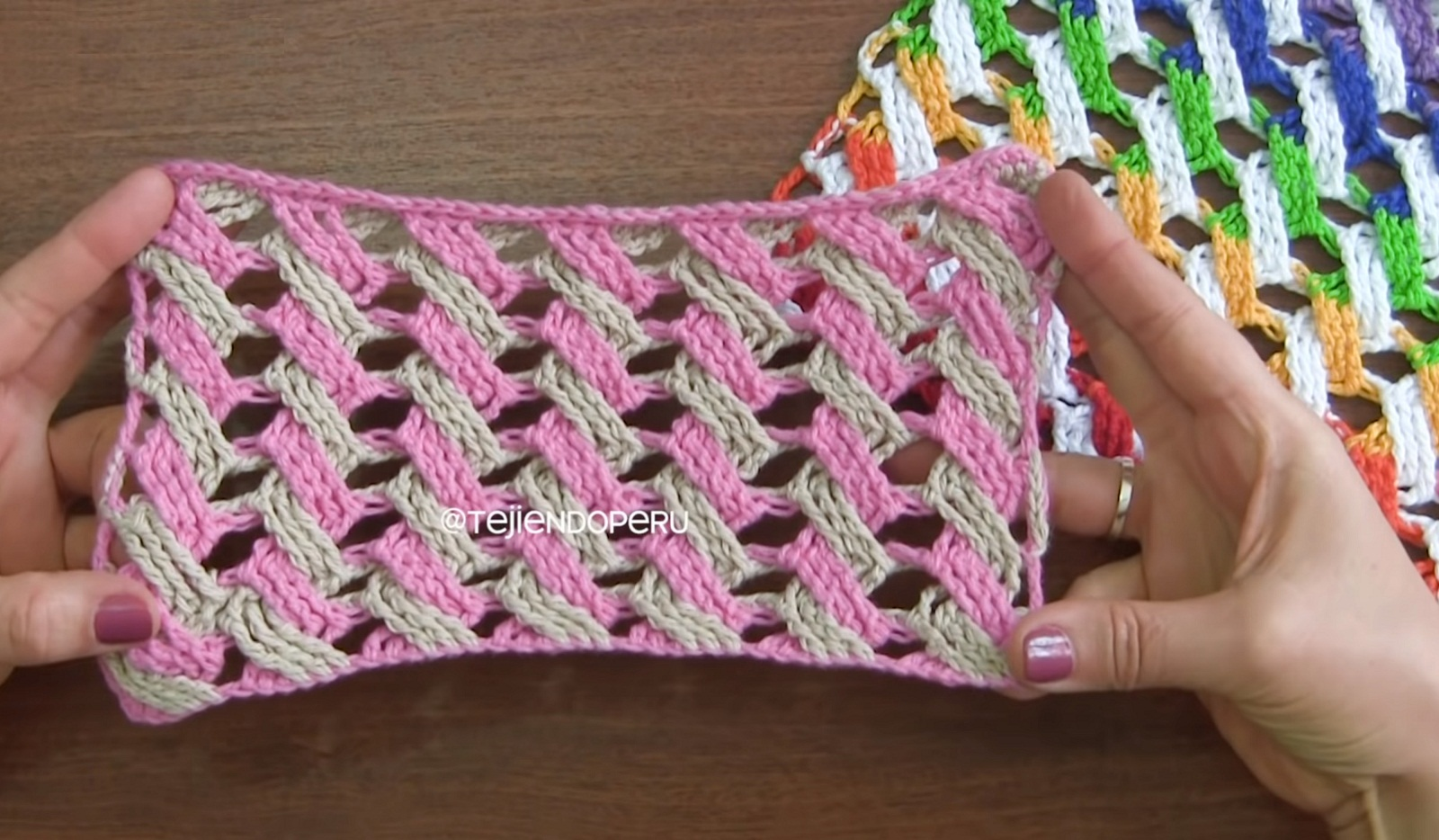 Crochet Multicolor Cable Stitch