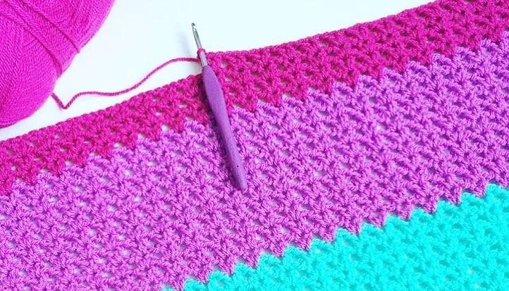 Crochet V Stitch Baby Blanket