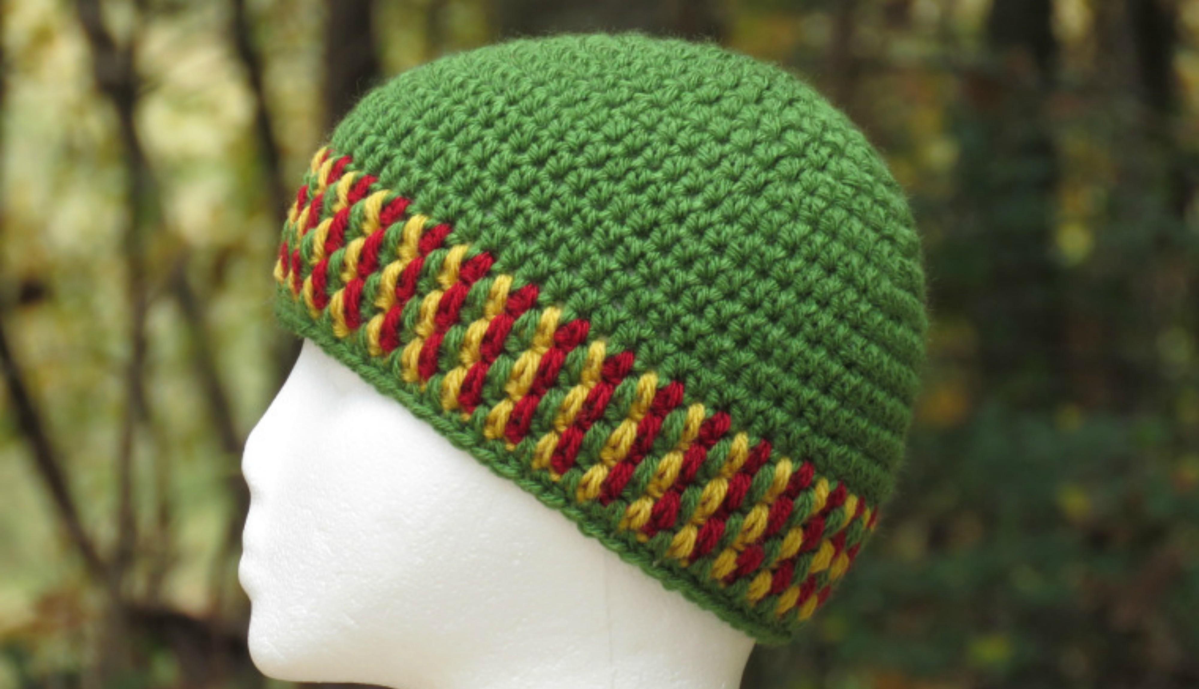 Crochet Spiked Mesh Stitch Hat