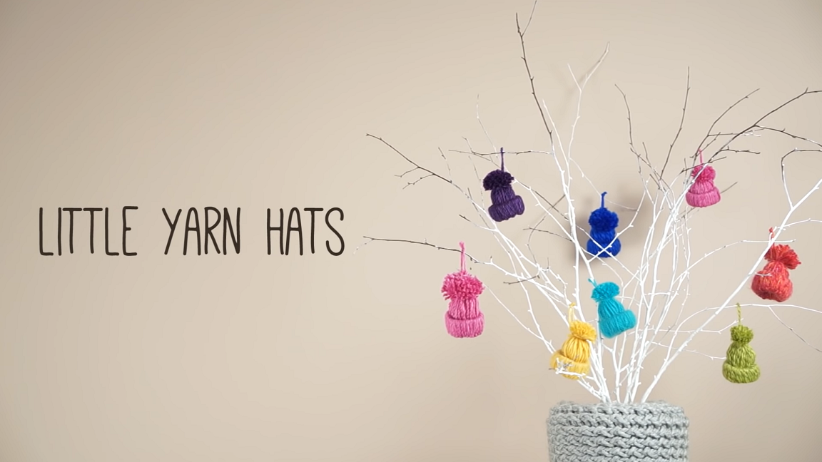 Make A Little Yarn Hat Ornament