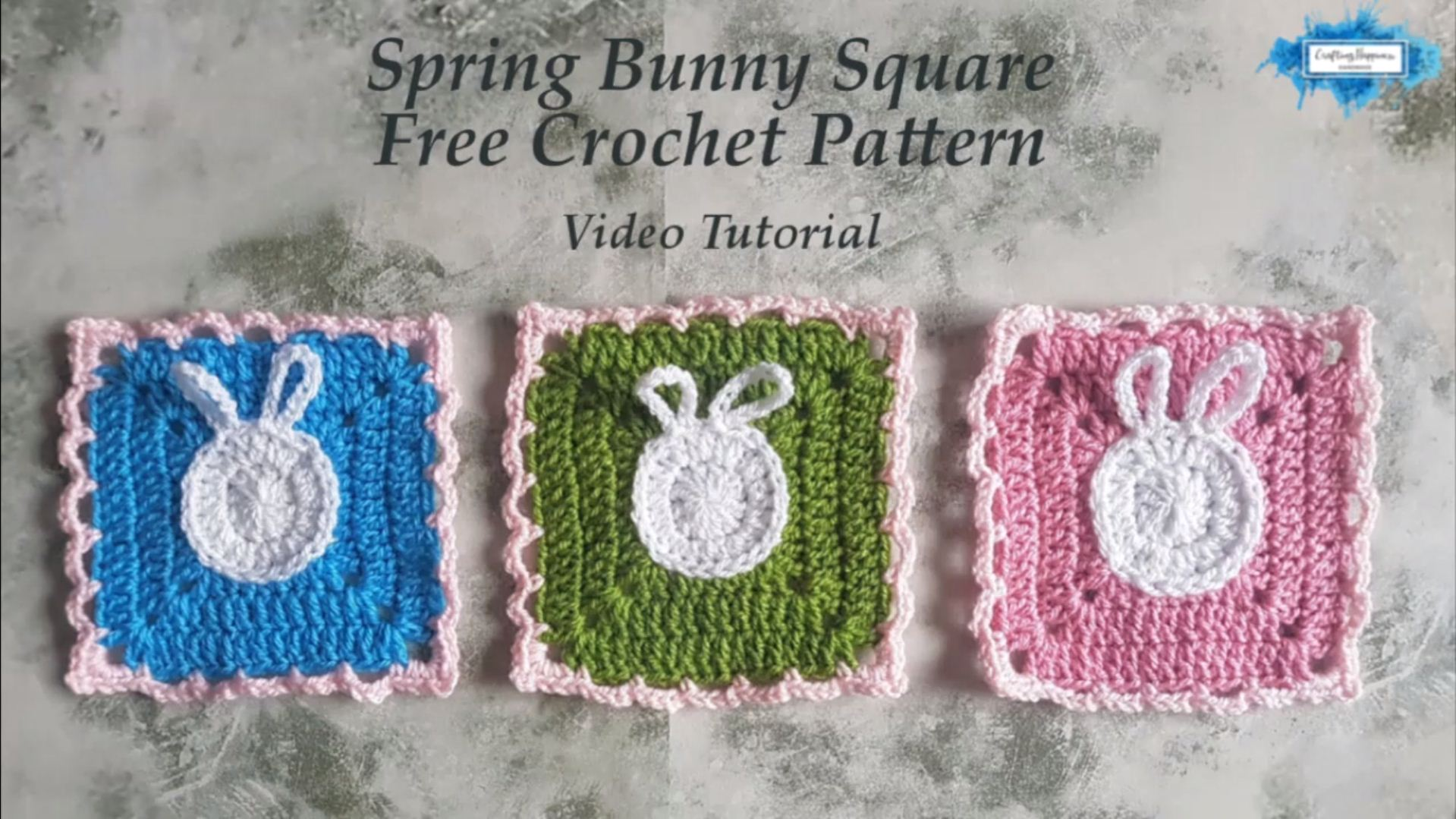 Bunny Square Free Crochet Pattern