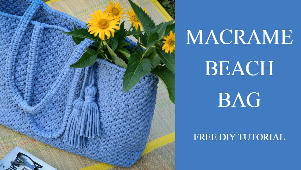 DIY Macrame Tote Beach Bag