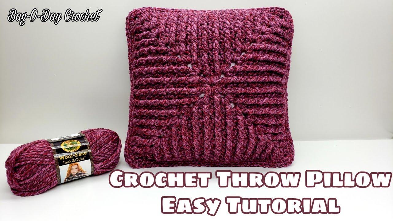 Crochet Easy Throw Pillow Cover