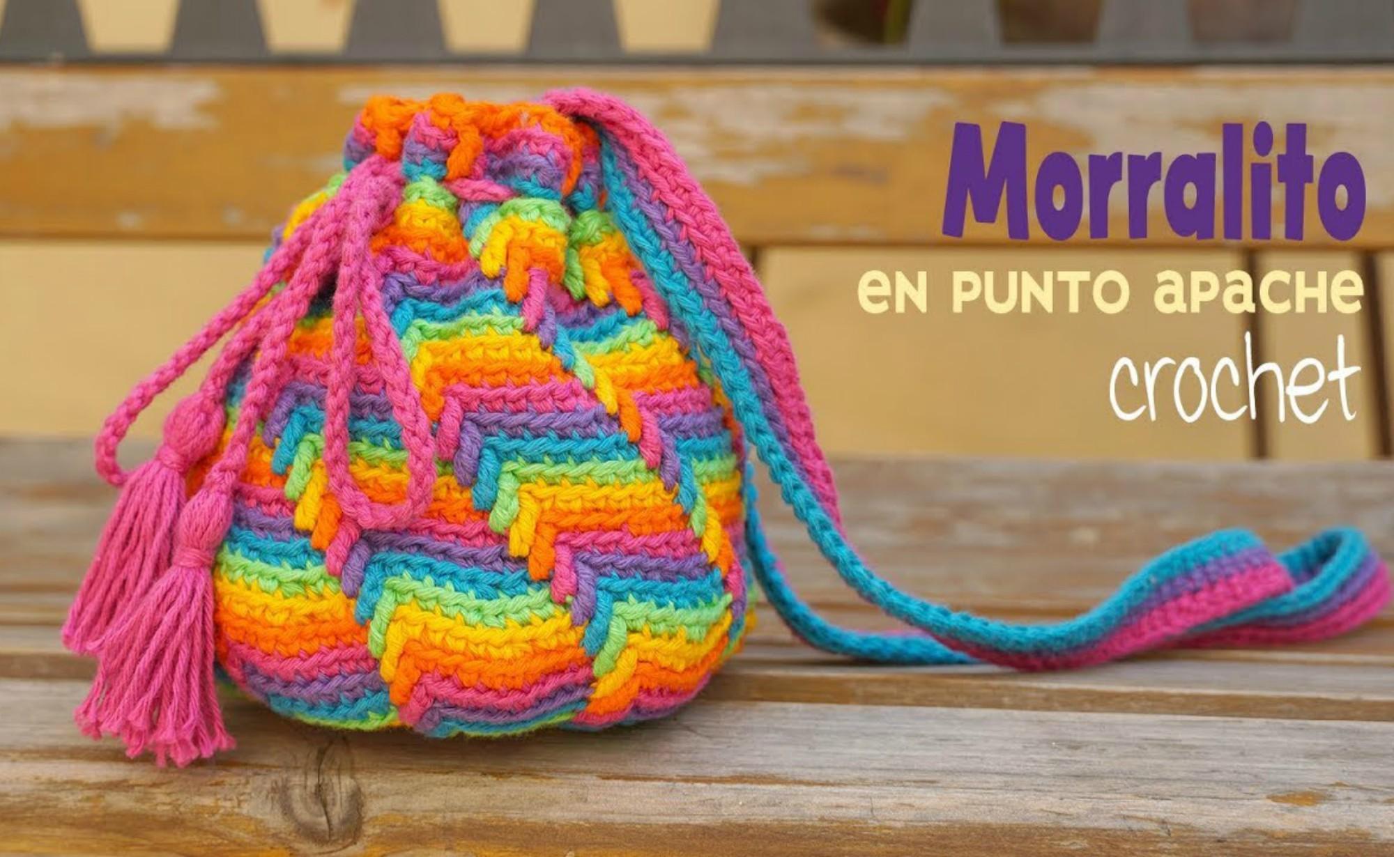 Crochet Apache Tears Stitch Purse / Bag