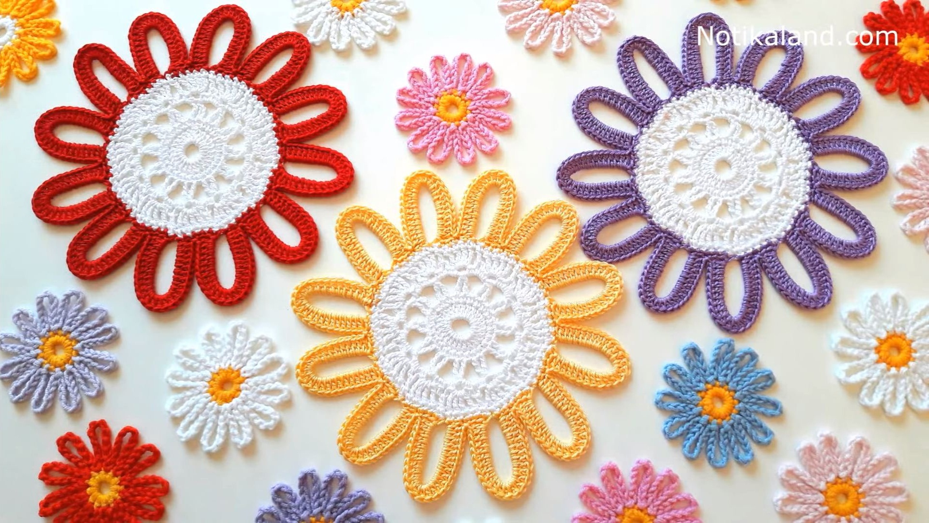 How To Crochet Flower Doily