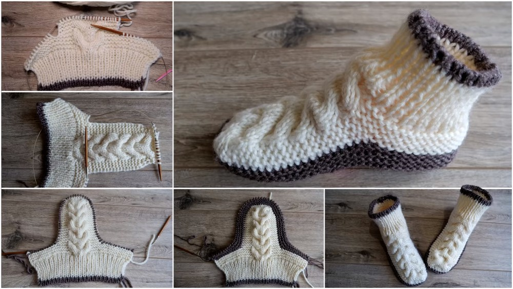 Super Soft Cozy Slippers Free Knitting Pattern