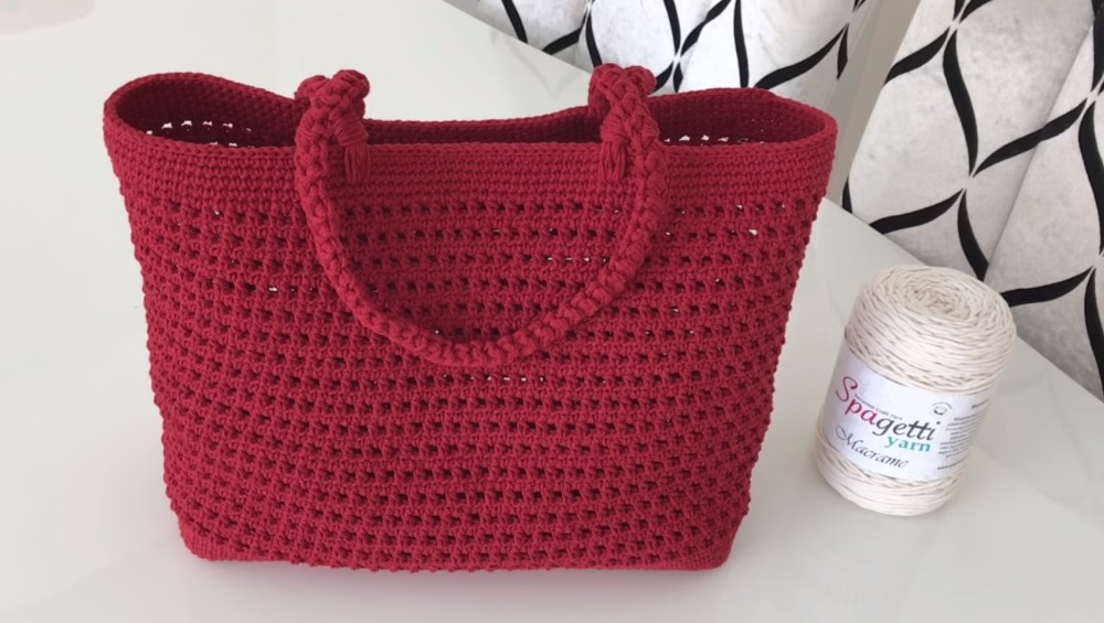 Crochet Bag With Macrame Rope