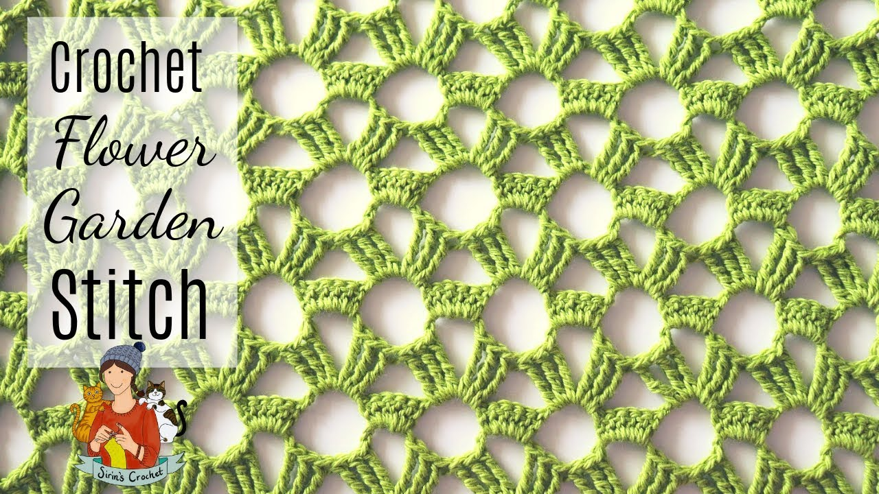 Flower Garden Stitch Crochet Tutorial