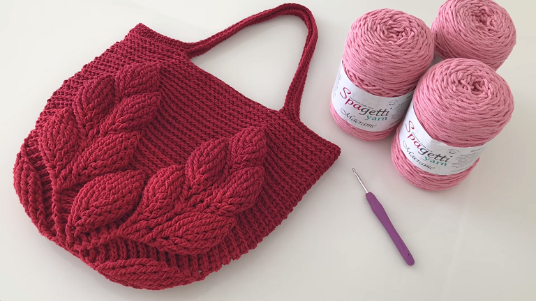 Leaf Stitch Bag Crochet Tutorial