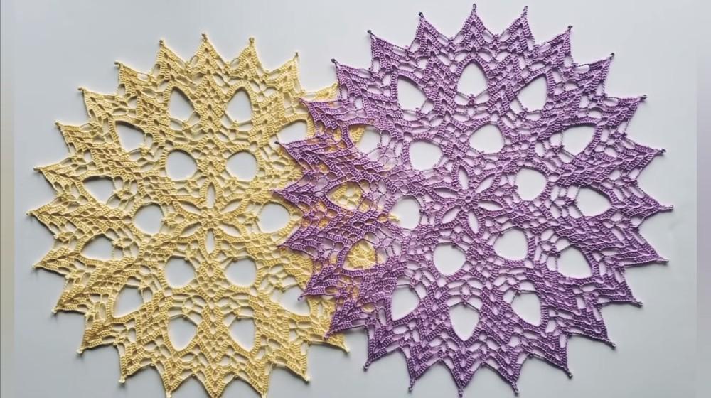 Crochet Sweet Pea Doily