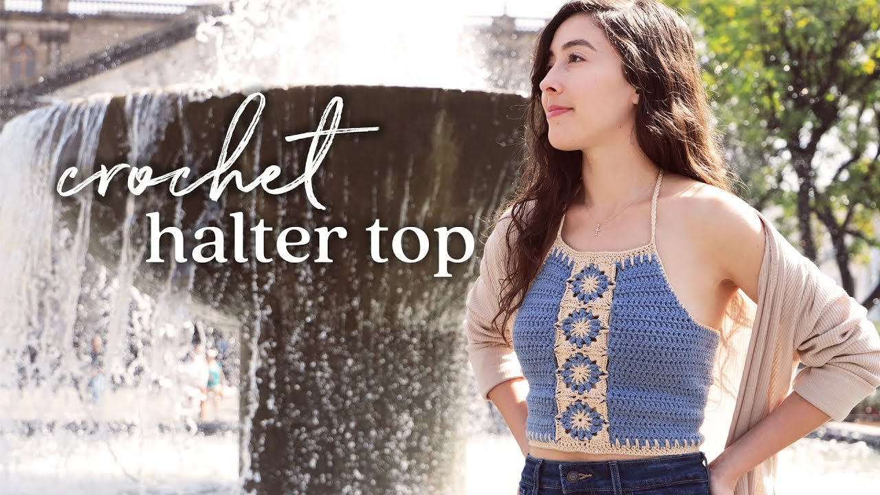 Halter Crop Top Crochet Tutorial