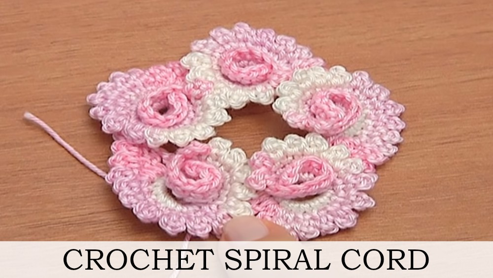 Spiral Shell Cord Crochet Tutorial