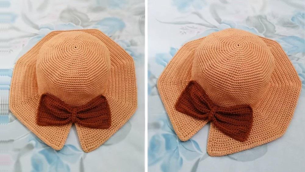 Crochet Bow Hat Pattern