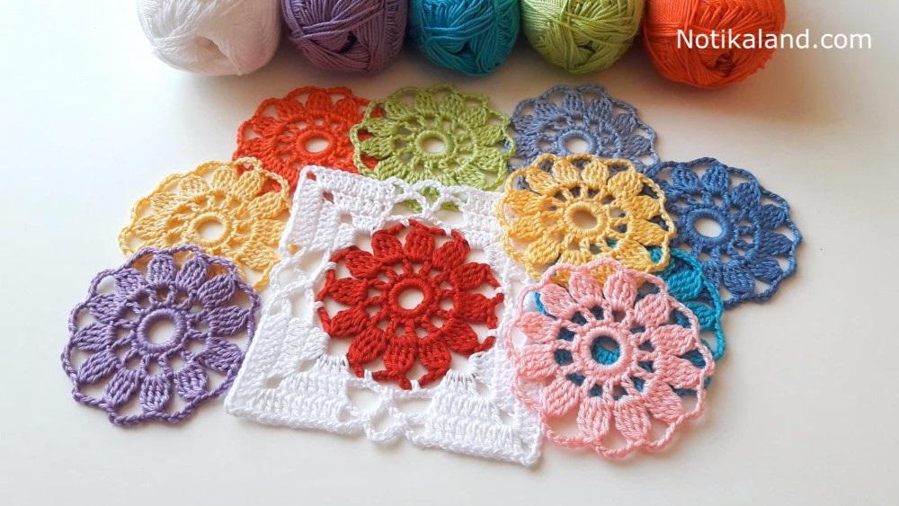 Crochet Easy Flower Square Motif