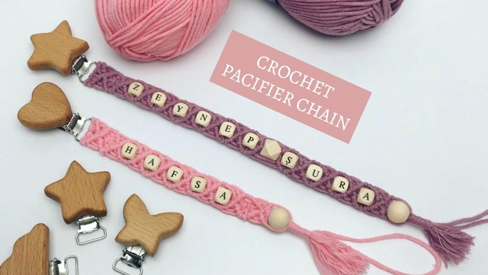 DIY Crochet Pacifier Clip