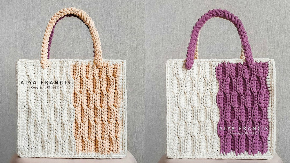 Crochet Bilateral Tote Bag