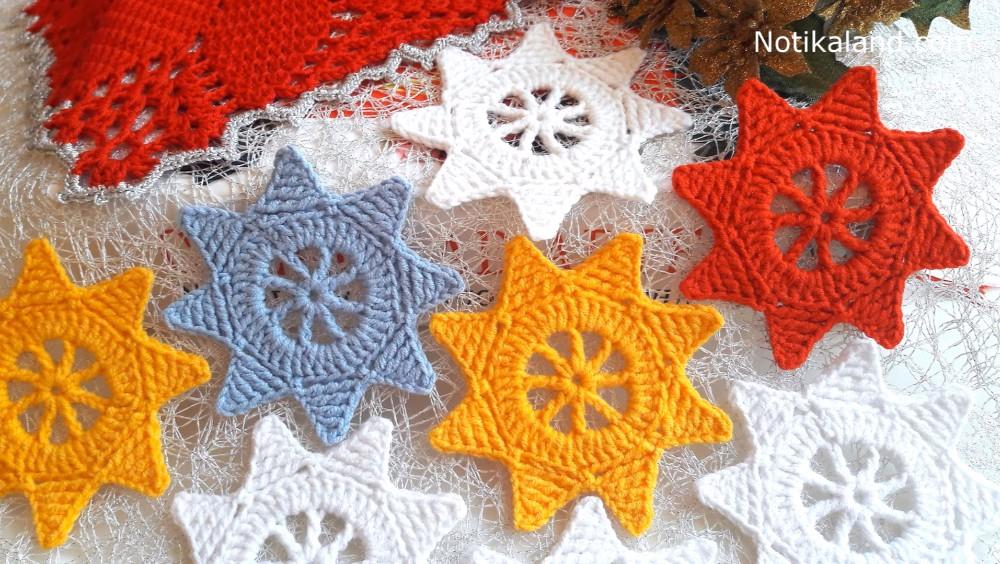 Crochet Easy Christmas Star Ornament
