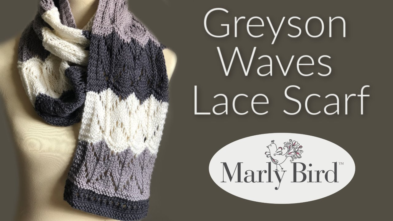 Greyson Waves Knit Lace Scarf