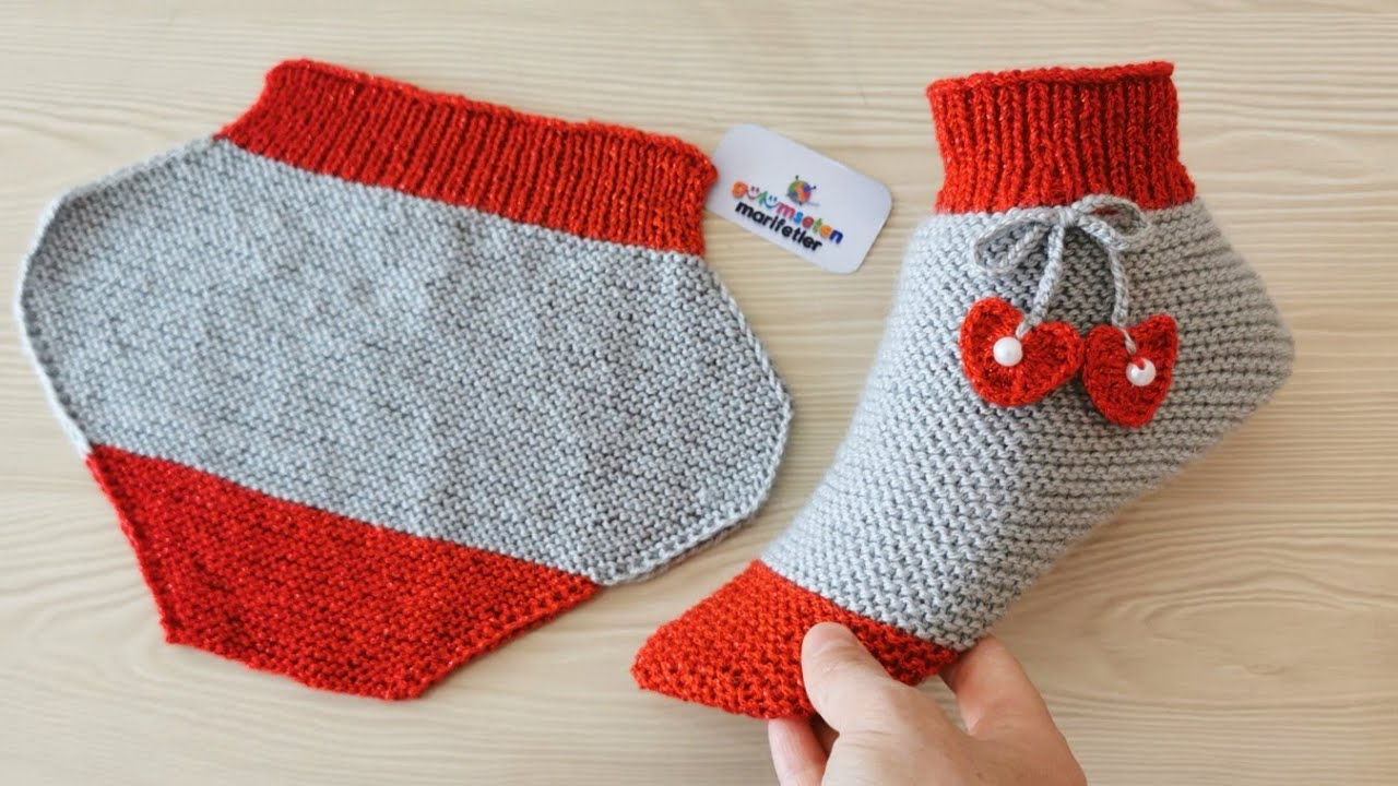 How To Knit Easy Ladies Slippers/Boots/Socks