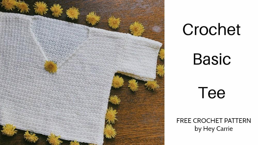Basic Tee Top Free Crochet Pattern