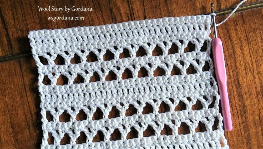 Crochet Y-Stitch Lace Pattern