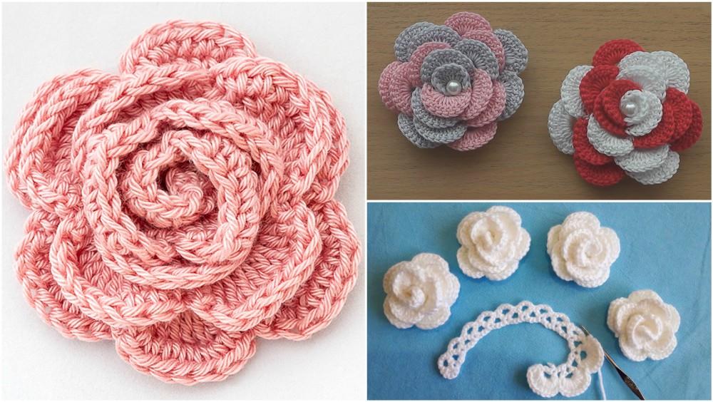 Crochet Rose Flower Patterns For Beginners