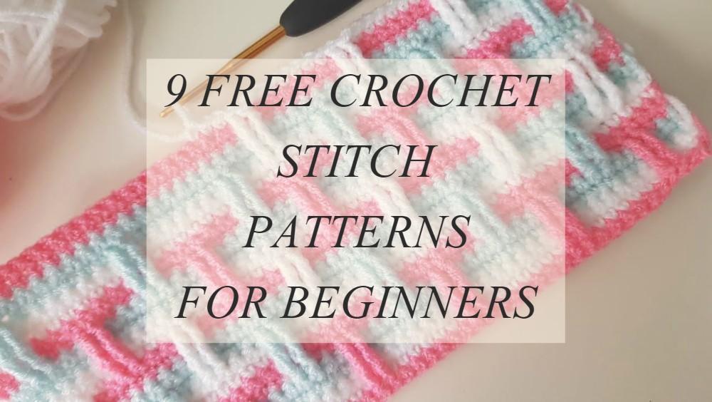 9 Crochet Stitch Patterns For Beginners