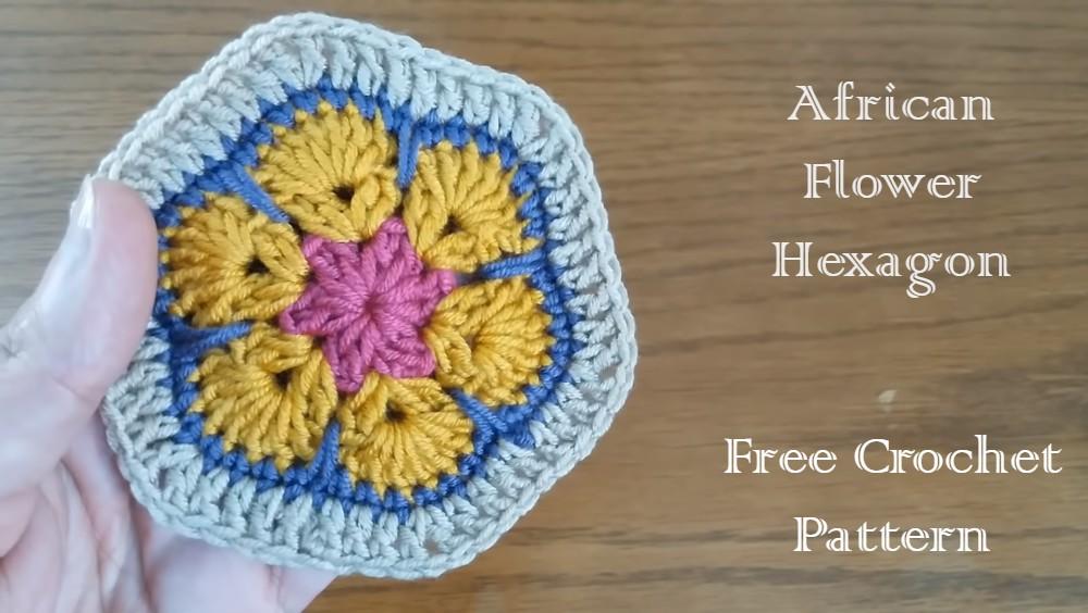 How To Crochet African Flower Hexagon