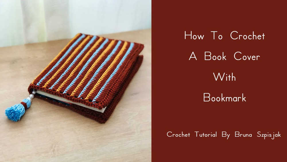 Crochet Book Cover With A Tassel Bookmark