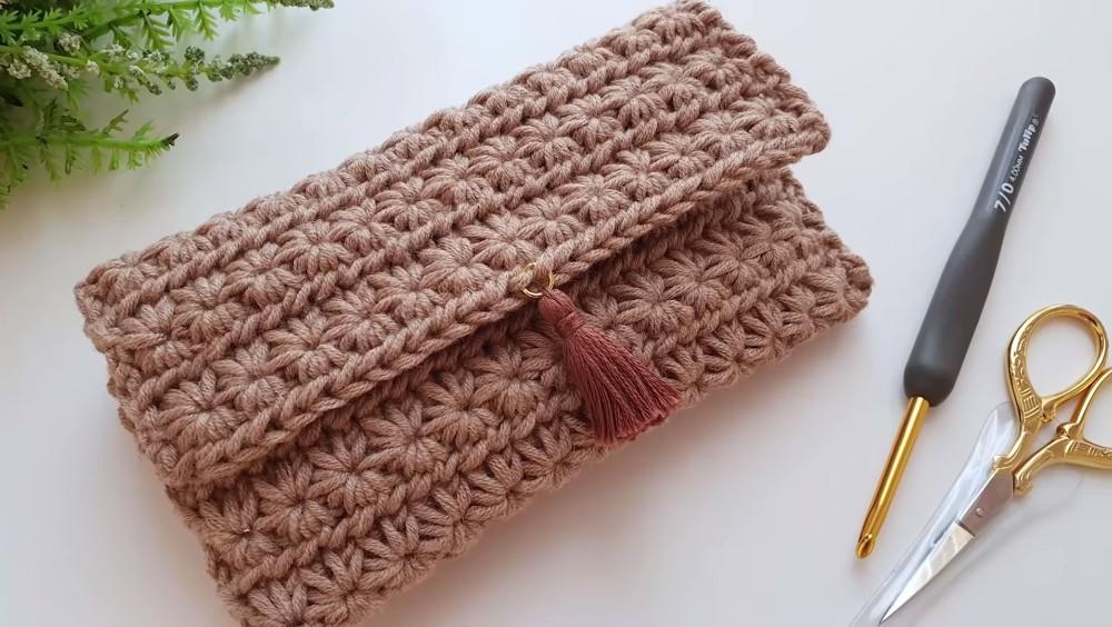 Crochet Star Stitch Wallet or Pouch