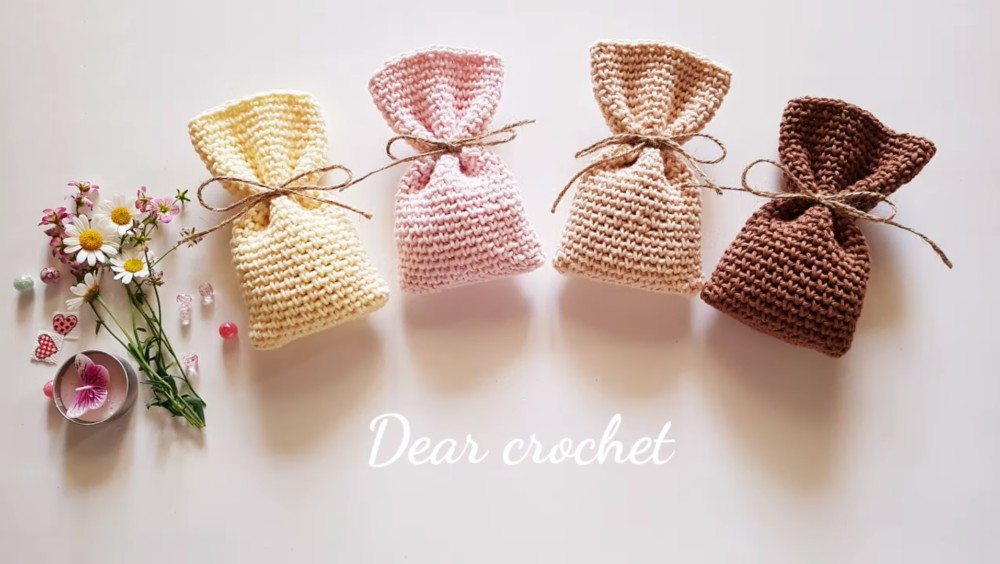 Easy Crochet Gift Bag Pattern