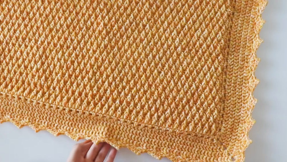 Crochet Alpine Stitch Blanket – Free Crochet Pattern