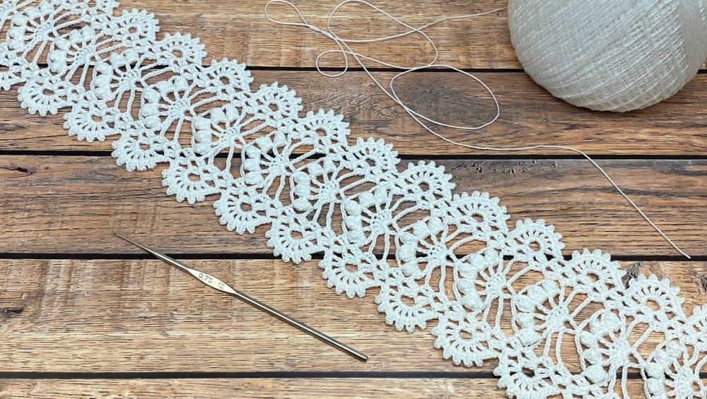 Crochet Ribbon Lace Trim or Tape For beginners