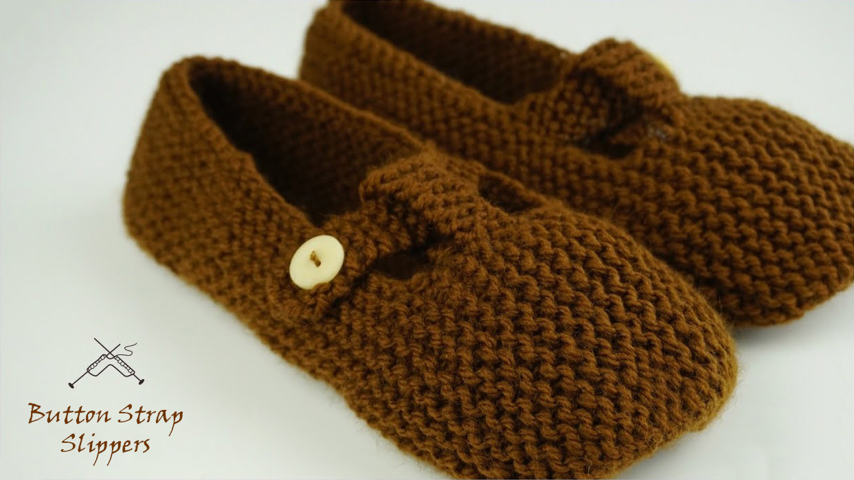 Easy Button Strap Slippers Tutorial