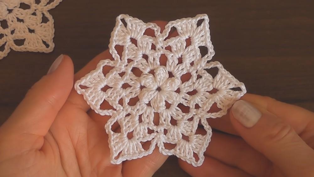 Classic Snowflake Motif Crochet Pattern